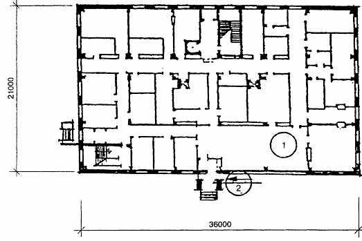 План 1 -го этажа. 1 — торговый