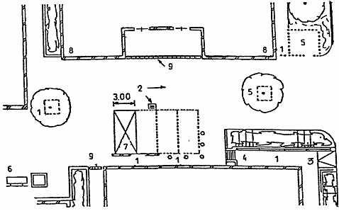 Схема пешеходной зоны